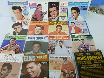 Elvis Presley Collectors Series 15 Golden Records 45RPM with Picture Sleeves