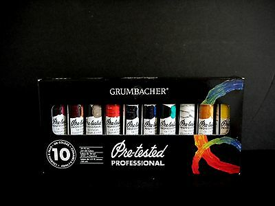 New!!! Grumbacher Pre-Tested Professional 10 Oil Colors