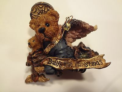"""Boyds bearstone """"Baby's First Christmas Ornament dated 1997"""" NIB"""