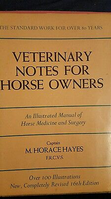 Veterinary Notes For Horse Owners A Manual of Horse Medicine & Surgery Free Ship