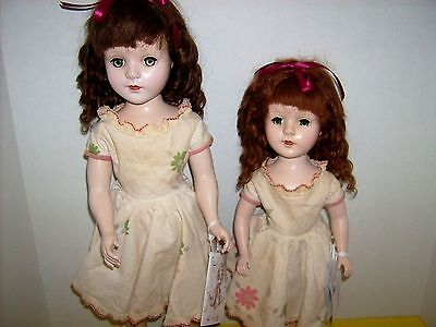 """2 Sweet Sue dolls 15""""  18"""" Vintage 1950's  Strung Mohair wig  American Character"""