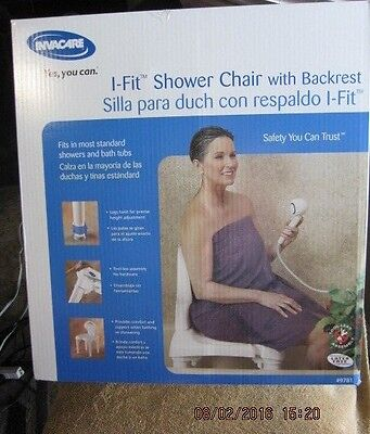 NEW INVACARE I-FIT SHOWER CHAIR WITH BACKREST #9781 FreeShip