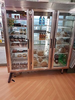 3-door Stainless Steel Display Fridge