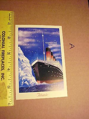 TITANIC STAMP SOUVENIR SHEET TAJIKISTAN Sinking 5000 2000 iceburg crash night a