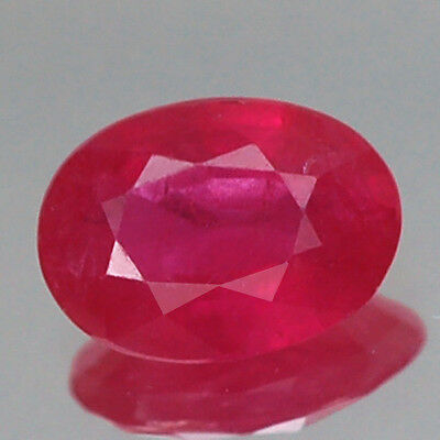 1.01Ct Certified Aa Unheated Oval Red Ruby Natural