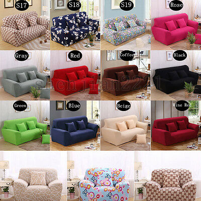 1~4 Seater Stretch Sofa Slip Covers Protector Elastic Removable Couch Slipcover