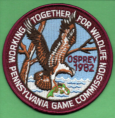 Pa Penna Pennsylvania Game Commission WTFW 1982 Osprey REPRODUCTION patch