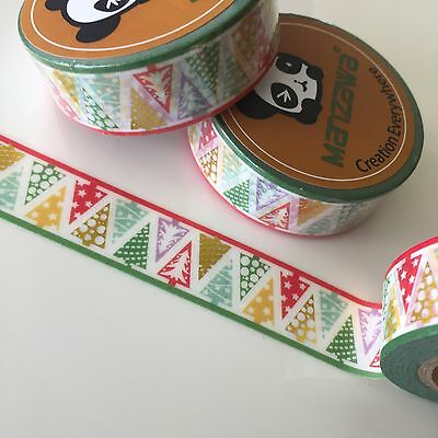 Washi Tape Gold Foil Christmas Trees 15Mm X 10Mtr Planner Craft Wrap Mail Art