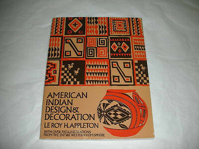 Vtg 1971 AMERICAN INDIAN DESIGN DECORATION Paperback Book over 700 Illustrations