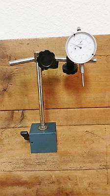 Magnetic on-off Block Machinist Workholder / Dial Indicator / See Photos