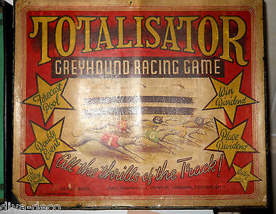 Antique TOTALISATOR Lead Toy Greyhound Racing Game - DETOY BROS -  RARE