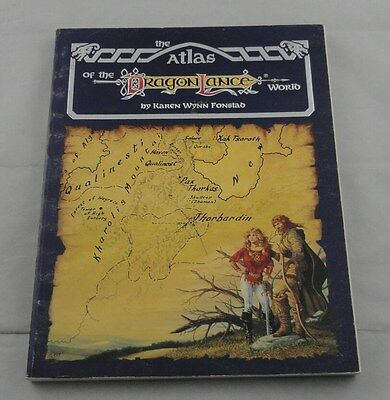 Advanced Dungeons and Dragons: Atlas of the Dragonlance World TSR8448 AD&D