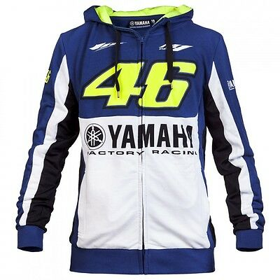 2016 OFFICIAL Valentino Rossi Yamaha M1 VR46 #46 Moto GP Hoody Sweat Top - NEW