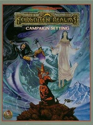TSR AD&D Forgotten Realms Campaign Setting Box Set 1085 Sealed 2nd edition