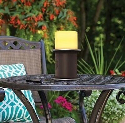 AR New Wireless Bluetooth Outdoor Speaker with LED Candle Rechargeable