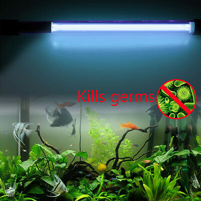 15W IP68 Waterproof Aquarium Fish Tank UV Light Submersible UV Sterilizer Lamp