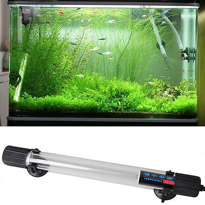 10W IP68 Waterproof Aquarium Fish Tank UV Light UV Sterilizer Lamp UK Pin