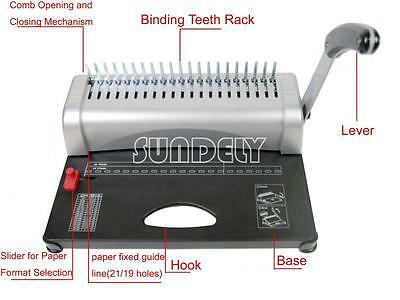 New Paper Punch Binder Binding Machine with Starter Combs Set - 21 Hole / 450 UK