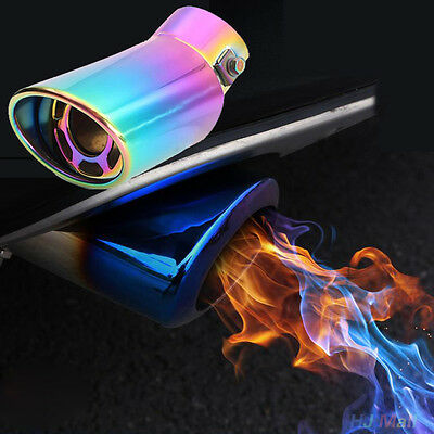 Universal Stainless Steel Auto Car Vehicle Curved Exhaust Tail Tip Pipe