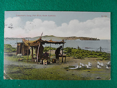 Early1900's Adelaide & South Aust. Postcard Fisherman's Camp Port Elliot