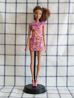 New Fashion Doll's Clothes Doll Accessories heart Shoulder Dress for Barbie doll