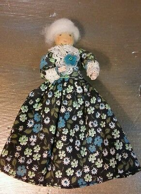 Antique wooden clothespin doll