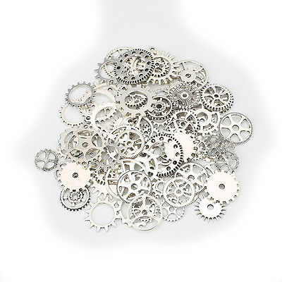 60pcs Steampunk Gears Mixed Packing Zinc Alloy Charms Vintage Mixed Tool