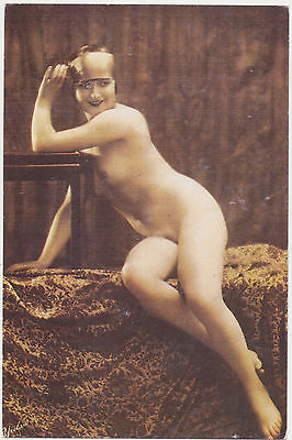 Reproduction 1920's Nude Pin-Up Nostalgia Postcard (Modern)