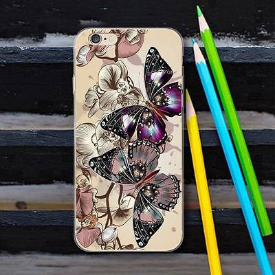 Butterfly Soft Silicone Case Phone Back Cover Bumper for iPhone Samsung Huawei