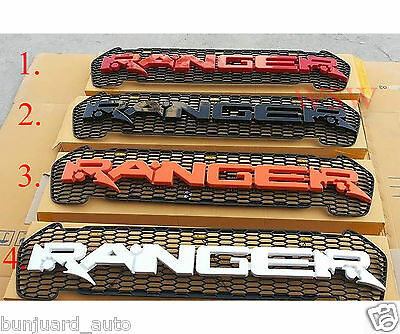 Ford Ranger MK2 PX2 2016 17 Black Raptor Front Grill Wildtrak Emblem w/LED Light
