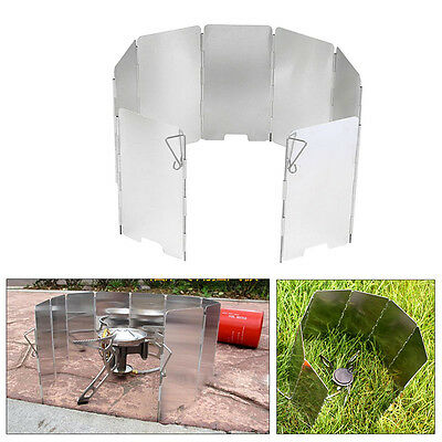 Cooking Foldable Fold up Camping Cooker Stove Wind Shield Screen Guard Blocker