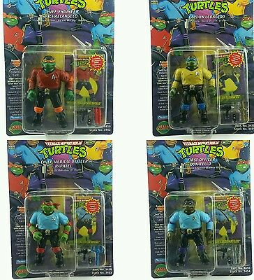 Vintage ☆ STAR TREK Teenage Mutant Ninja Turtles Figure Set Carded Sealed 90s