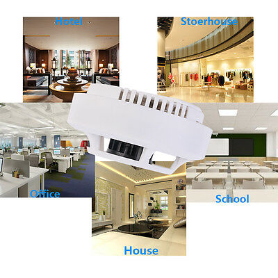 Battery Operate Smoke Detector Home Security Fire Alarm Sensor System White
