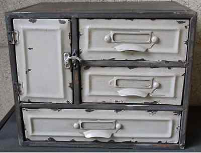 3 Drawer Metal Cabinet Storage Industrial Vintage Retro Style Cupboard NEW Chic