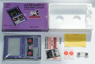 NINTENDO GAME & WATCH - MICKEY MOUSE - Panorama Screen 1984 - BOXED -