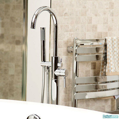 Freestanding Bathroom Tap Bath Shower Mixer Chrome ; Free Standing Floor Mounted