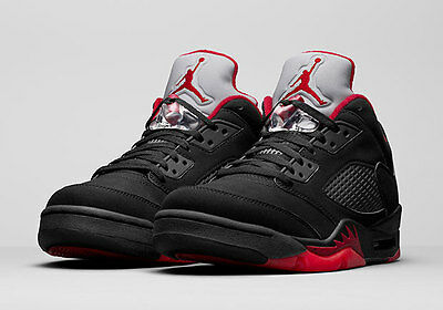 Nike Air Jordan 5 V Retro Low Alternate 90 Black Gym Red 100% Orginal 819171-001