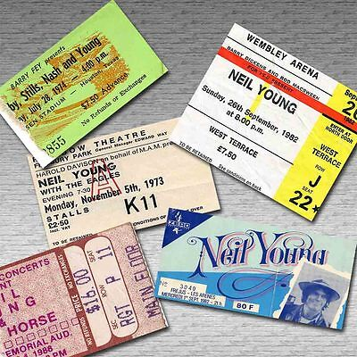 NEIL YOUNG Magnetic Retro Concert Ticket Set!