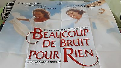 ** Much Ado About Nothing French Language Ugc Quad Poster ** Branagh Thompson **