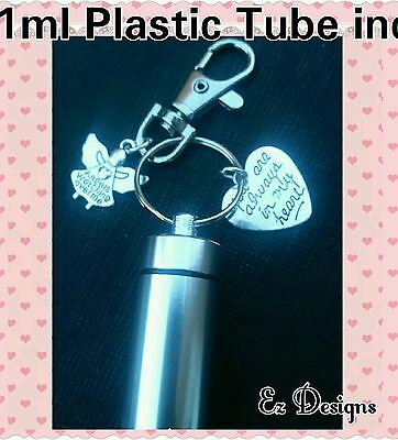 Cremation Ashes Jewellery Urn Keyring Token Charm Memorial Gift Always In Heart