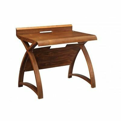 Jual Furnishings PC603 900mm Computer or Laptop Table / Desk in Real Wood Walnut