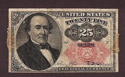 1874 25 Cents Fifth Issue Robert Walker Fractional Currency Note