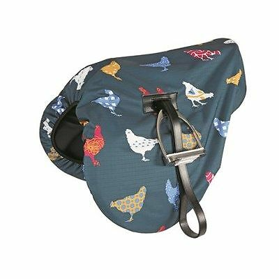 Shires Waterproof Ride On Saddle Cover - Chicken Print