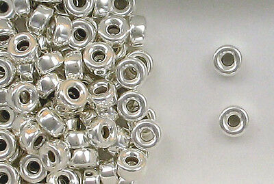 925 Sterling Silver 8mm Plain Round Tire Spacer Beads, Choice of Lot Size