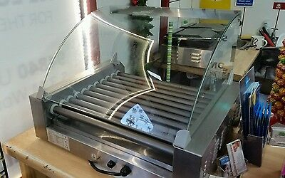 HOT DOG SAUSAGE ROLLER GRILLING machine + double grill