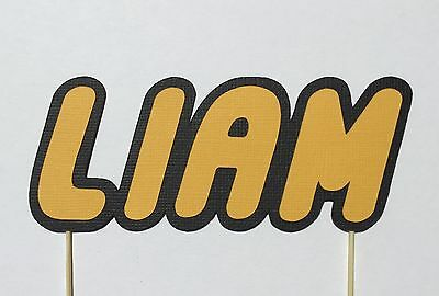 Lego themed Any Name, Any Colour cake topper, scrap booking or wall decoration