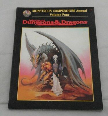 AD&D 2nd Ed Monstrous Compendium Annual: Volume Four TSR2173 Dungeons & Dragons