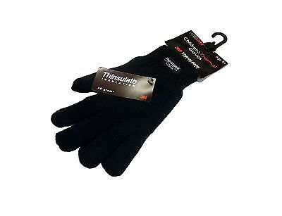 BOYS GLOVES / GIRLS / CHILDRENS BLACK THERMAL THINSULATE AGE 9 +  1 or 2 Pairs