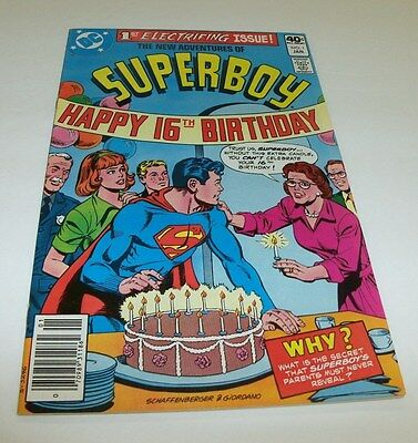 The New Adventures of Superboy #1 Original Owner Collection $5 High Grade Comic