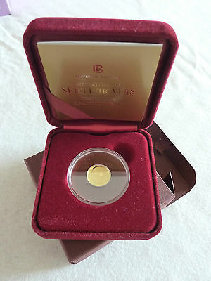 """GOLD Lithuania 2014 10 Litų Coin from the series """"Lithuanian Science"""""""